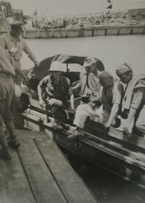 Prisoners coming aboard, Sicily