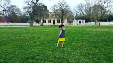 Catie on the palace green.